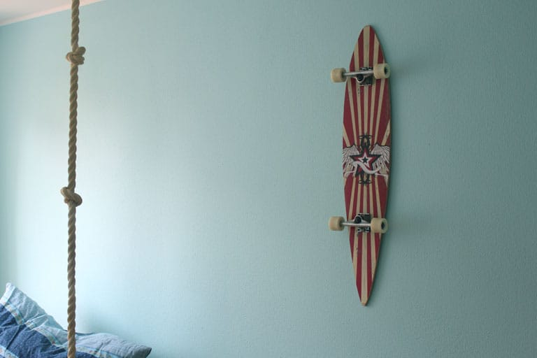 longboard-wanddeko